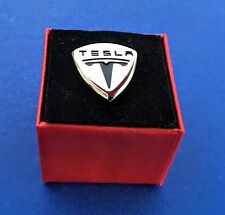 Tesla Lapel Pin Auto Car Logo Emblem Pin Hat Pin Groom Wedding (New)