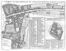 Antique maps, Parish of St Mary White Chappel / Parish of St Katherines by the T