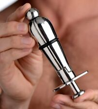 Stainless Steel Locking Anal Plug Expanding Butt Plug Dildo Sex Toy Adult