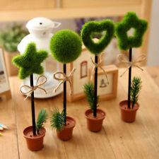 New Green Grass Flower Pot Writing Pen Ball-point Pens Cute Stationery Gift