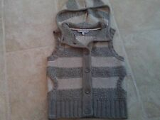FAT FACE natural colour sleeveless funky WOOL mix CARDIGAN + hood 12 .IMMACULATE