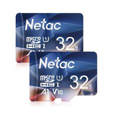 Netac Micro SD 32GB×2 Speicherkarte SDHC Class10 UHS-1 90MB/S TF Karte