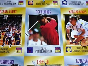 Sports Illustrated For Kids Magazine with Cards Intact TIGER WOOD  CHEN LU ECT💎