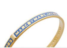 Marc By Marc Jacobs Women's Skinny Logo Bangle Bracelet - Conch Blue S/M