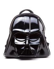 OFFICIAL STAR WARS - DARTH VADER MASK 3D PLASTIC MOLD BLACK BACKPACK BAG (NEW)