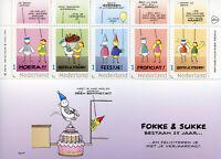 Netherlands 2018 MNH Fokke & Sukke 25 Years 5v M/S II Greetings Cartoons Stamps