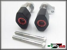 Strada 7 Kawasaki Z1000SX 2012 - 2013 CNC Frame Crash Protectors Sliders Red