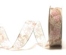 Flitter Organza Dekoband 1m//0,20€ Schleifenband 20m x 25mm PINK Glitter