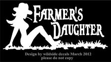 Farmer's Daughter Decal Set of Two Sexy Mudflap Country Vinyl Car Decals Sticker