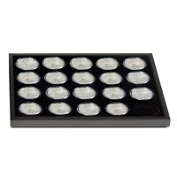 American Silver Eagle Coin Collection Display Tray For 20 ASE In Capsules US S&h