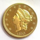 1850 LIBERTY HEAD $20 GOLD NEAR GEM UNCIRCULATED AWESOME COIN!! RARE THIS NICE!!