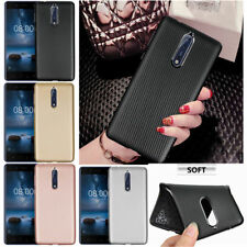 For Nokia 9 7 3 5 6 8 Slim Carbon Fiber Silicone Shockproof Soft Case Back Cover