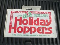 24 Vintage MCM Christmas Ornaments Hand Painted Jasco Holiday Hoppers Frogs