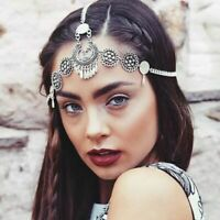 Womens Vintage Boho Hair Band Chain Jewelry Forehead Headpiece Dance Accessories