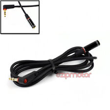 4FT 3.5MM AUX RIGHT-ANGLE EXTENSION STEREO CABLE CORD BLACK LG G3 OPTIMUS G PRO