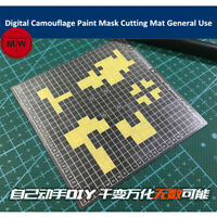 Digital Camouflage Paint Mask Cutting Mat General Use Model Building Tool AJ0080