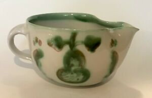 CHARMING M.A.Hadley Pottery Green Pear & Grapes Pitcher / Gravy Boat  VG COND!