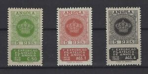 PORTUGUESE COLONIES- ANGOLA STAMPS, 1950, Mi. 334 - 336 **