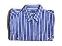 RM Williams Mens Shirt Size XB Stockyard Moomba Short Sleeve Blue White Strip