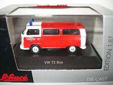 SCHUCO VW T2 BUS POMPIERS KIRCHHEIMBOLANDEN au 1/87° Echelle HO
