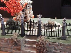 Gargoyle Halloween iron FENCE & Gate for Dept 56 Lemax Village Mansion Grimsley