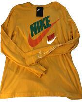 Nwt Mens Nike Gold Yellow Long Sleeve Tshirt Tee Large The Nike Tee