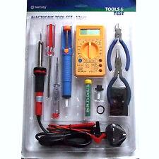 12 piezas Kit de herramientas de electrónica Inc 30W Multímetro alicates de bomba Desoldadora De Hierro