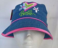 ~ Barbie - SOFT DENIM HAT CAP with PINK SATIN TRIM