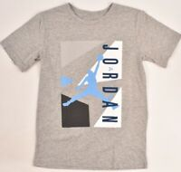 Nike AIR JORDAN Boys' Kids' Printed T-shirt, Grey/White/Blue, sizes 10-13 years
