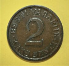 Estonia 2 Senti 1934 Extremely Fine + Coin - National Arms