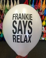 10 X Quality Frankie Says Relax Helium Balloons Retro Neon Party Love 1980's