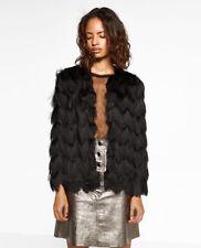 NWOT ZARA Black Fringed open jacket Size M