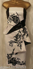 Karen Millen Oriental Bow Floral Embroidery Corset Strapless Party Dress  8 36