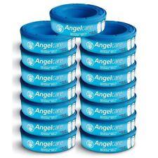12 x Angelcare sistema smaltimento pannolini Ricarica Cassette Wrappers SACCHETTI SACCHI Pack