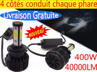 H7 H4 H11 LED Ampoule CREE Voiture Feux Phare Lampe Kit 400W Remplacer HID Xénon