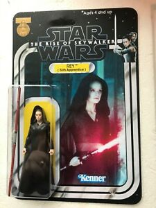 REY SITH APPRENTICE RISE OF SKYWALKER  CUSTOM DESIGNED FIGURE AND CARD COLLECT