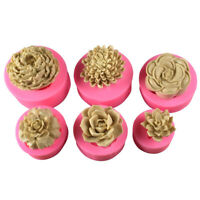 3D Flower Silicone Fondant Cake Mold Soap Jelly Mousse Chocolate Baking Mould US