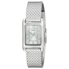 Timex T2P303 Lady's Silver Dial Steel Mesh Bracelet Quartz Watch