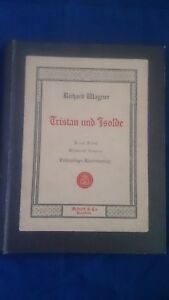 TRISTAN UND ISOLDE OPERA Vocal Sheet Music Book ANTIQUE Collectable