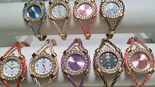 LOTTO di 20 Colori Misti Filo Cavo orologi e Diamante nuovo LOTTO all'ingrosso-Q