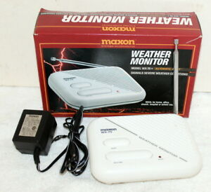 Maxon WX-70 Weather Monitor Radio in Box w/ AC Adapter ~ Auto Alert ~ Working