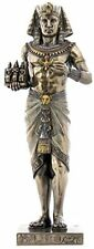 "8"" Egyptian Pharaoh Holding 3 Kings Egypt Decor Statue Figure Sculpture"