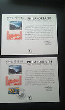 Scott Sc99  Souvenir Cards Philakorea Grand Canyon 2c (1984)Mint and Canc Pair