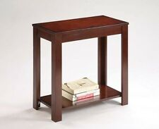 Brand New 24''H CLASSIC style designed ESPRESSO FINISH CHAIR SIDE TABLE - ASDI