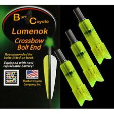 Burt Coyote Lumenok Crossbow Gold Tip Bolt #00340 Green Crescent End 3pk GTC3G