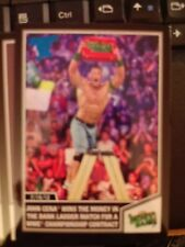2013 Topps Best of WWE #25 John Cena Wins Money in the Bank BLUE Parallel