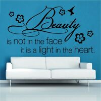 Wall Sticker Quote Follow the Light Art Home Sayings Popular QU173