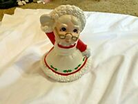 Vintage Mrs. Santa Claus Ceramic Figure 9 In Tall