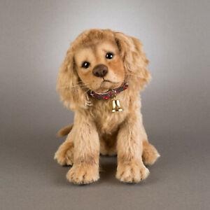 R. John Wright Christmas Puppy Taffy USA Handmade Collectible Doll