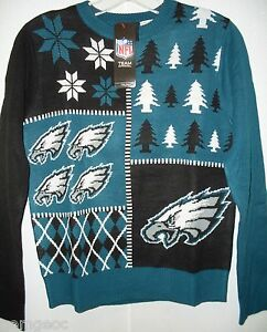 NFL Philadelphia Eagles Busy Block Ugly Sweater Youth Size Youth Small by FOCO
